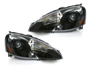 Depo Jdm Black Clear Projector Headlights Dot For 2005 2006 Acura Rsx Dc5 Type S