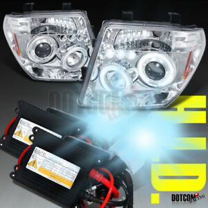 Slim Hid For 2005 2007 Nissan Pathfinder Led Projector Headlights Lamps Clear