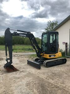 2014 John Deere 35g Mini Excavator Rubber Tracks Cab Heat A c Low Hours
