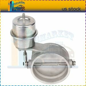 3 Inch Exhaust Control Valve Set Vacuum Actuator Close Style Cutout Downpipe