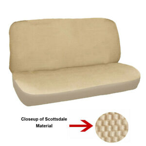 Universal Full Size Bench Truck Seat Cover Scotsdale Beige Fits Chevy Ford Dodge