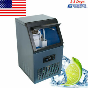 110lb Auto Commercial Ice Maker Machine With Ice Cube Tray Of 32 Cases 4 8