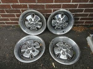 1970 1972 Ford Mustang Mach 1 14 X 7 Hubcaps Wheel Covers Set Of 4