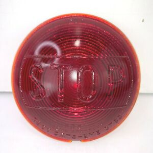 Cats Eye Red Glass Stop Light Lens 4 Car Old Truck Auto 6081 5783 Sema Vintage