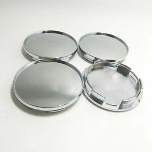 4pcs Set Universal 76mm Chrome Silver Car Wheel Center Hub Caps Cover No Logo