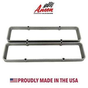Small Block Chevy Valve Cover Spacers As Cast Die Cast Aluminum Ansen Usa