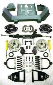 Ford Mustang Ii Power Front End Suspension 2 Drop Kit Slotted Wilwood Sway Bar