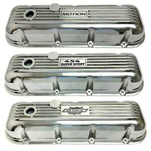 Ansen Custom Valve Covers For Big Block Chevy Classic Polished Finish