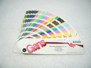 Gans Pantone Matching System 17th Edition 1983 1984 Color Formula Guide