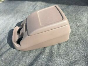 92 93 94 95 96 97 Ford Truck bronco Bucket Seat Tan Center Console lid cup Hold