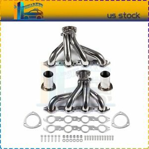 Shorty Stainless Steel Manifold Exhaust Header For Chevy 366 454 Small Block Sbc