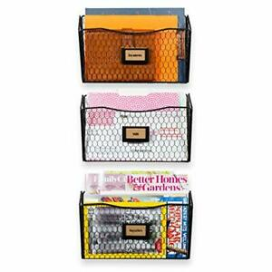 Wall35 Felic Hanging File Organizer Folder And Mail Holder For Wall Metal 3