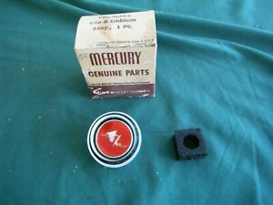 Mercury Nos 1954 Horn Ring Cap And Emblem 54 Oem
