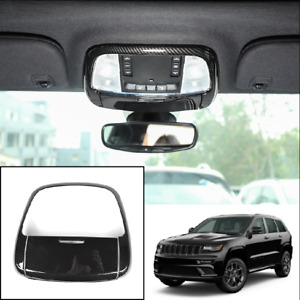 For Jeep Grand Cherokee 11 2020 Carbon Fiber Front Reading Light Lamp Cover Trim