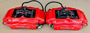 Porsche 911 996 Turbo C4s 997 S Rear Brake Calipers In Good Condition 22k Miles