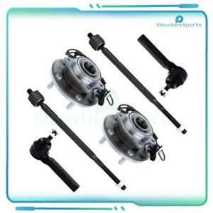 6pcs Fits 2008 2016 Chrysler Town Country Front Wheel Bearing Hub Tie Rods