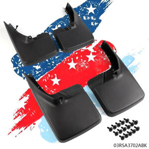 Front Rear Splash Guards Mud Flaps For 2009 2018 Dodge Ram 1500 2500 3500
