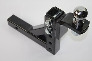 10 Adjustable Trailer Drop Hitch Ball Mount For 2 Receiver With 2 Hitch Ball