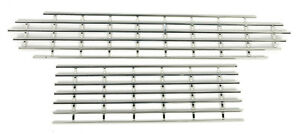 Fiat 124 Spider Radiator Grill Set Stainless Steel New