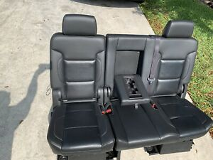 2015 20 Chevrolet Tahoe Leather Bench Seat Yukon Escalade 2nd Row Second Black M