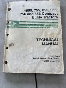 John Deere Technical Manual For 655 755 855 955 756 And 856 Compact Utility