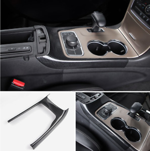 Carbon Fiber Style Gear Shift Cover Frame Trim For Jeep Grand Cherokee 2014 2020