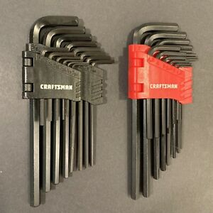 Craftsman Ultimate Foldable 28 Piece Hex Key Allen Wrench Set Sae Metric