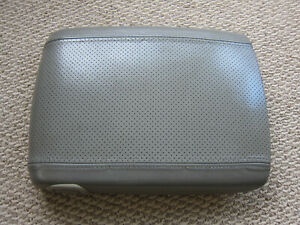 03 06 Cadillac Escalade Grey Leather Center Console Arm Rest Lid Oem Nice