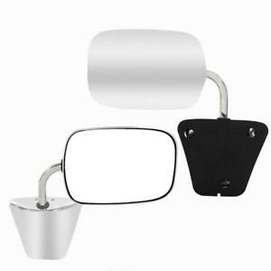 For 1973 1991 Chevy Gmc Pickup Truck Set Side View Manual Stainless Steel Mirror