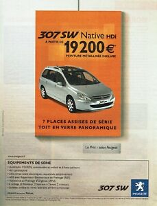 Publicité advertising 520 2005 new peugeot 307 sw 7 seater hdi native as