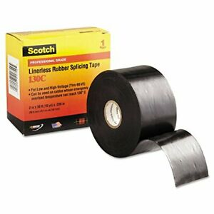 3m Electrical Scotch Linerless Splicing Tapes 130c 30 Ft X 2 In Black