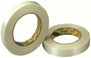 Scotch Filament Tape 893 Clear 12 Mm X 55 M Conveniently Packaged pack Of 6