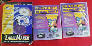 Cd Stomper Pro Cd Label Refill 100 Die cut Adhesive Labels Cd Dvd Labelmaker