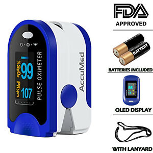 Oled Finger Tip Pulse Oximeter Blood Oxygen Meter Heart Rate Monitor Ym201 Fda