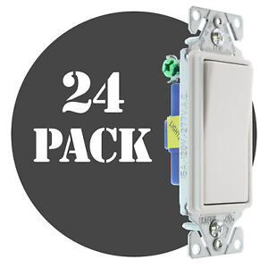 Hubbell Rsd115ilwz Lighted Decorator Switch 1 p 15a 120 277v White 24 pk