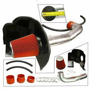 Cold Air Intake Kit Heat Shield Red For 14 19 Chevrolet Gmc Cadillac 5 3l 6 2l
