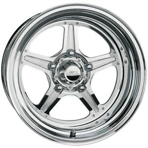 Billet Specialties Rs035126150n Street Lite Polished Wheel Size 15 X 12 Bolt Pa