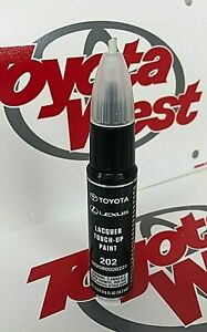 Genuine Toyota Touch Up Paint Pen With Brush 202 Black Onyx Oem