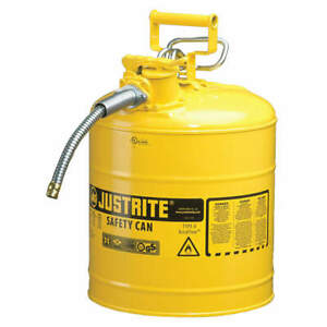 Justrite Type Ii Accuflow 5 Gal Safety Gas Can W 1 In Spout yellow