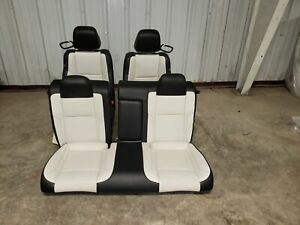 2018 Dodge Challenger White Leather Front And Rear Seats Oem