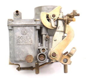 Solex Carburetor Carb 30 Pict 3 1970 Vw Beetle Bus 1600 Single Port Aircooled