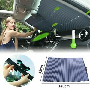 Car Retractable Windshield Sun Shade Curtain Uv Protection Sun Visor Block Cover