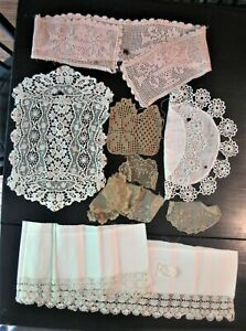 Lot Of Crochet And Lace Trim Pieces