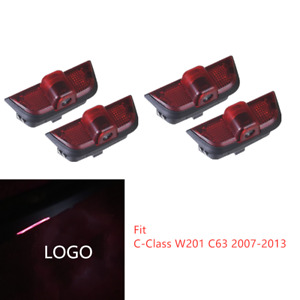 4x Led Car Door Courtesy Laser Ghost Shadow Lights Fit For Mercedes Benz C Class