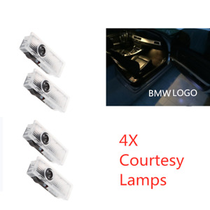 4x Led Car Door Courtesy Laser Lamps Ghost Shadow Projector Lights Fit For Bmw