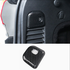 For Jeep Grand Cherokee 2011 2020 Carbon Fiber Rear Trunk Switch Cover Trim