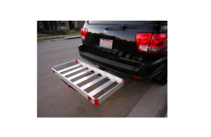 Aluminum Hitch Receiver Mounted Cargo Carrier Trailer Suv Car Back Automotive