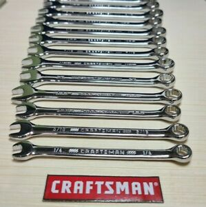 Craftsman 12pt Combination Box Wrench Sae Or Metric Full Polish select 1