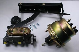 Universal Under Dash Pedal With 7 Dual Booster Master Cylinder Gm