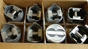 2363pa L2403f Forged Pistons 350 Chevy Dished Pistons Standard Bore Set Of 8